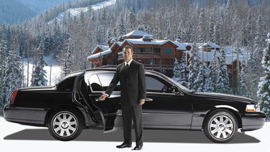 man opening door of limo